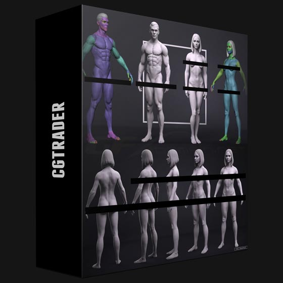 CGTrader - Basemesh Set - Adam and Eve 3D Model Collection